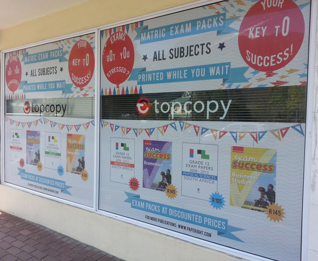 Top Copy's Paperight window dresssing