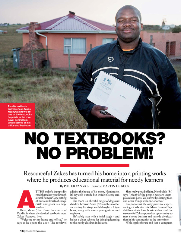 'No Textbooks? No Problem', You magazine, 22 July 2012