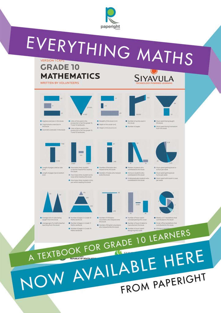Paperight outlet poster: Siyavula Everything Maths CAPS Grade 10